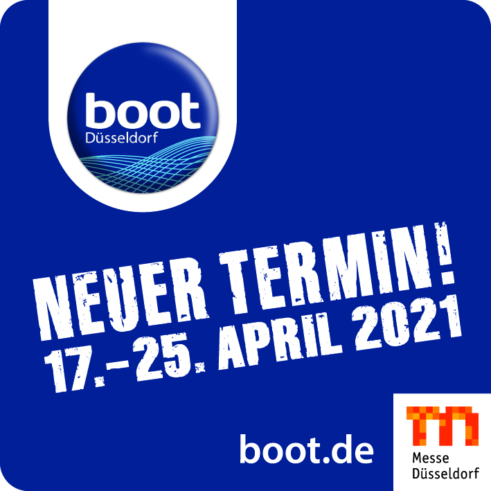 Die boot Düsseldorf findet jetzt vom 17. bis 25. April 2021 statt.